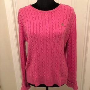 Ralph Lauren crewneck, cable knit sweater